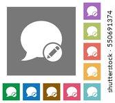 moderate blog comment flat... | Shutterstock .eps vector #550691374