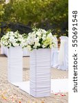 decorations for the wedding... | Shutterstock . vector #550691548