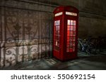 Red London Telephone Box At...