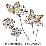 vector illustration of vintage... | Shutterstock .eps vector #550692604
