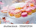 Pink Cupcakes And Macaroon...