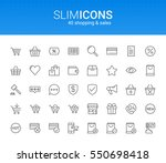 minimalistic slim line shopping ... | Shutterstock .eps vector #550698418
