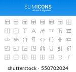 minimalistic slim line text  ... | Shutterstock .eps vector #550702024