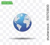 world globe vector illustration. | Shutterstock .eps vector #550703830