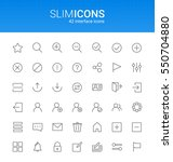 minimalistic slim line user... | Shutterstock .eps vector #550704880