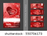 vector happy valentine's day... | Shutterstock .eps vector #550706173