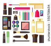 beauty cosmetic icons | Shutterstock .eps vector #550708654