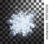 white silver light rays or... | Shutterstock .eps vector #550710250