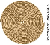 coiled rope in circle  pattern...   Shutterstock .eps vector #550713376