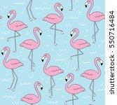 hand drawn doodle flamingo...   Shutterstock .eps vector #550716484