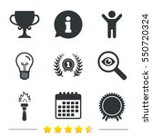 first place award cup icons.... | Shutterstock .eps vector #550720324
