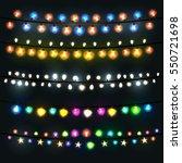 festive lights garland on a... | Shutterstock .eps vector #550721698