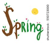 Vector Spring Set. Illustratio...