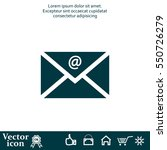 mail icon. vector | Shutterstock .eps vector #550726279