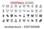 simple modern set of football... | Shutterstock .eps vector #550730008