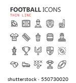 simple modern set of football... | Shutterstock .eps vector #550730020
