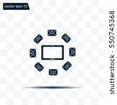 mail tablet  vector illustration