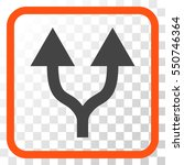 split arrows up orange and gray ... | Shutterstock .eps vector #550746364