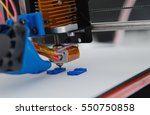 3d printer mechanism working... | Shutterstock . vector #550750858