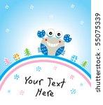 merry christmas crab | Shutterstock .eps vector #55075339