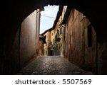 ancient arch in saluzzo   north ... | Shutterstock . vector #5507569