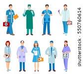 doctor character vector isolated | Shutterstock .eps vector #550760614