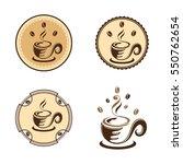 hot coffee bean cafe cup logo...   Shutterstock .eps vector #550762654