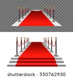 red carpet with gold stanchions.... | Shutterstock .eps vector #550762930