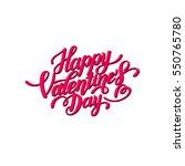 happy valentines day... | Shutterstock .eps vector #550765780