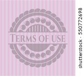 terms of use pink emblem