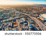 Aerial view of a massive...