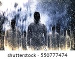 mysterious gangster in the dark | Shutterstock . vector #550777474