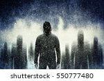 mysterious gangster in the dark | Shutterstock . vector #550777480