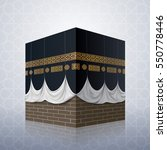 realistic islamic icon kaaba... | Shutterstock .eps vector #550778446