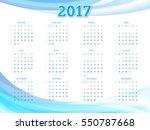 calendar for 2017 year. vector... | Shutterstock .eps vector #550787668