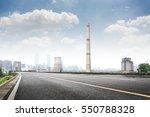 oil refineries line a river in...   Shutterstock . vector #550788328