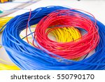 electric cable. components of... | Shutterstock . vector #550790170