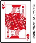 jack of hearts | Shutterstock .eps vector #550790413