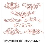 set of decorative elements with ... | Shutterstock .eps vector #550792234