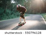 skater boy in helmet on... | Shutterstock . vector #550796128