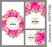 invitation with floral... | Shutterstock . vector #550797430