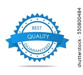 quality guaranteed badge... | Shutterstock .eps vector #550800484