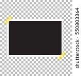 photo frame on sticky tape....   Shutterstock .eps vector #550803364