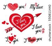 i love you   romantic vector... | Shutterstock .eps vector #550811440