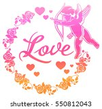 cupid with bow hunting for... | Shutterstock . vector #550812043