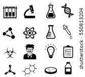 chemistry  biology and physics... | Shutterstock .eps vector #550813204