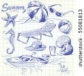 summer lounge doodles   Shutterstock .eps vector #55081813