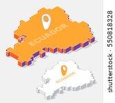 ecuador map element with 3d... | Shutterstock .eps vector #550818328