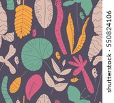 stylish pattern with tropical... | Shutterstock .eps vector #550824106