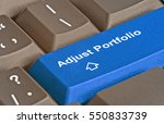 keyboard with key for portfolio ... | Shutterstock . vector #550833739